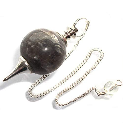 Echtkristall-Kugel, Pendel für Wünschelruten, Wahrsagen, Hellsehen und Heilungen Iolith