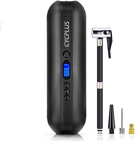 CYCPLUS 150 PSI Tire Pump Electric Compressor Air Pump with Rechargeable Li ion Battery Portable product image