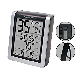 AcuRite 00613 Digital Hygrometer & Indoor Thermometer Pre-Calibrated Humidity Gauge, 3 H x 2.5 W x 1.3 D