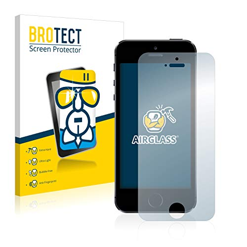 BROTECT Protector Pantalla Cristal Compatible con iPhone 5 / 5S / 5C...