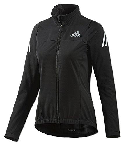 adidas Damen Supernova Cycling Jacke Climawarm Softshell Radjacke (schwarz-Silber, XS)