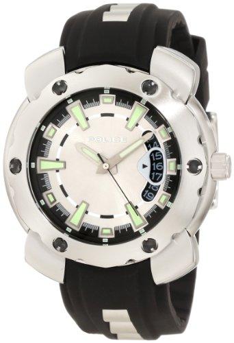 Police POLICE Timepieces - Reloj analógico de Cuarzo para Mujer con Correa de Acero Inoxidable, Color Plateado