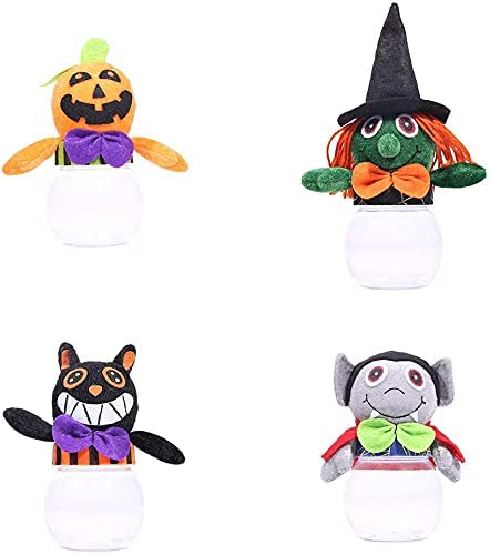 MUGUOY 4pcs Max 47% OFF Directly managed store Halloween Candy Jar for Kids Storage Sweet Cookie C