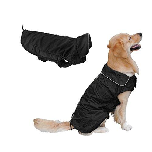 FakeFace Wasserdicht Hundemantel Große Hunde Wintermantel gefüttert Hundejacke Regenmantel Winter warme Kleidung Hundebekleidung XL XXL XXXL