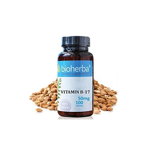 Vitamin B17 Premium (Extrakt-Aprikosenkerne), Bioherba, 100 Kapseln x 50 mg, Aus Aprikosensamen 5000 mg Vitamin B17 Kapseln