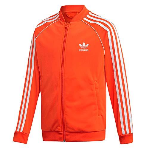 Adidas Originals Superstar Track Top - Giacca sportiva da bambino, colore: arancione, taglia: 176, colore: Arancione