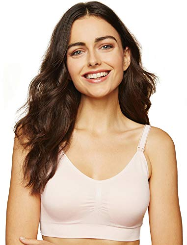 Motherhood Maternity Women's Full Busted Seamless Clip Down Nursing Bra, Blush, Large