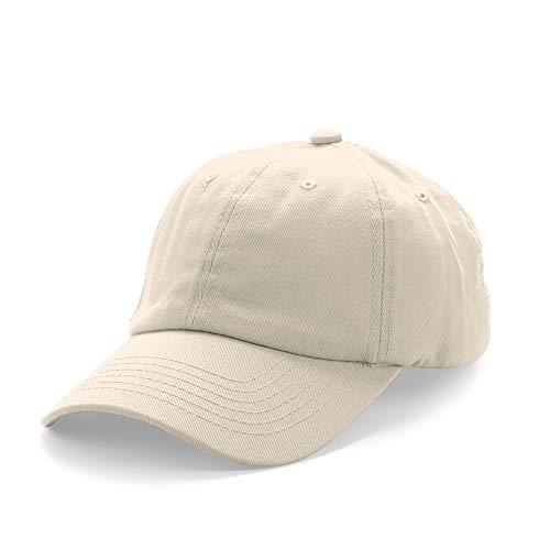 Milifeel Unisex Solid Low Profile Kappe Soft Verstellbare Baseball Kappe Frauen Männer Baumwolle Sonnenhut Kappen Cap Hat(beige)