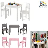 HYGRAD Multi-Purpose Kids Children's Wooden Table and 2 Chair Set For homeschooling Preschoolers Boys and...