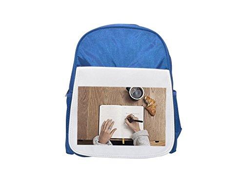 Coffee, Write, mesa, cuaderno de escribir impreso azul mochila para niños, lindas mochilas pequeñas, lindas mochilas negras, mochila negra fresca, mochilas de moda, grandes mochilas de moda, negro F