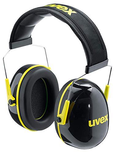 Uvex K2 Otoprotettori - Dispositivi di protezione dell'udito a cuffia - Cuffie Antirumore - 32dB nero/giallo