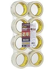 3M スコッチ ガムテープ 梱包テープ 中軽量用 48mm×50m 8巻パック 313 8PN