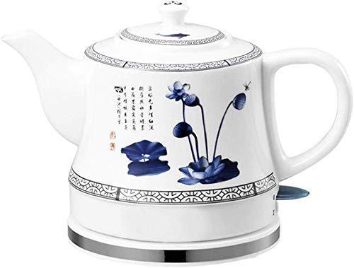 Bouilloires électriques en céramique Bouilloire sans fil Teapot-Retro Rouge 1 L Jug, 1000W eau rapide for thé rapide 8bayfa