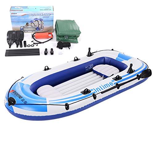 YQDS 4 Personas Barca Hinchable Lancha Bote Inflable Caucho del Barco de Pesca Bote de remos Soportar hasta 320 kg Adecuado para Pesca, Deportes acuáticos, Vacaciones y de Ocio,2