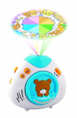 VTech Primera Infancia - Proyector Osito dormilón, Color Blanco y Azul (80-100022)