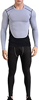 1Bests Men's Atheletic Sports Fitness Sets Running Basketball Gym Training Quick-Drying Breathable Suits