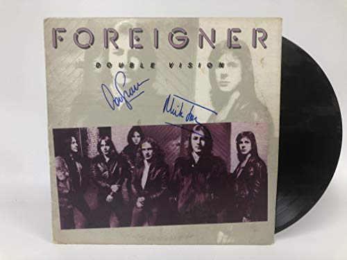 Lou Gramm & Mick Jones Signed Autographed 'Foreigner' Double Vision Record...