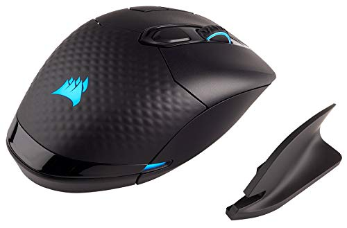 CORSAIR Dark Core - RGB Wireless Gaming Mouse - 16,000 DPI Optical Sensor - Comfortable & Ergonomic - Play Wired or Wireless (Renewed)