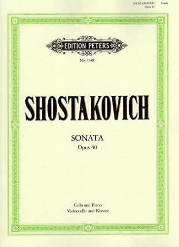 Dmitri Shostakovich: Cello Sonata in D minor Op. 40. Für Cello, Klavierbegleitung
