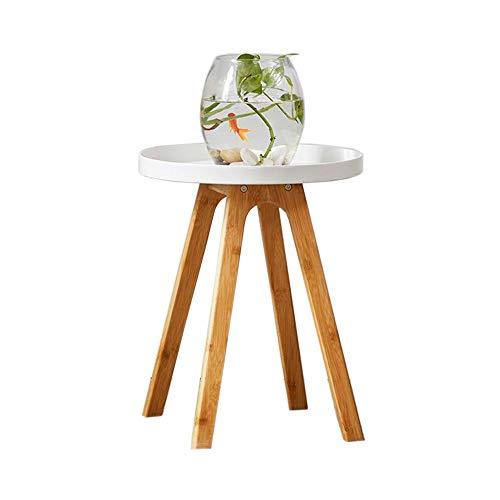 Jcnfa-bijzettafel Sofa Side Table, nachtkastje, Bamboo zijtafels, lade metalen eindtafel, Snack bijzettafel voor bank en bed