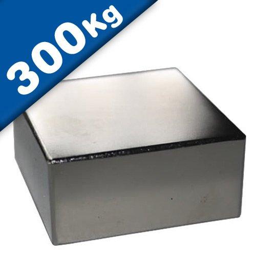 Imán Rectángulo Bloque magnético Neodimio - 70 x 70 x 20mm - Neodimio N45 (NdFeB) Níquel - Fuerza de sujeción 300 kg - Imanes permanentes super potentes de Tierras Raras para la industria y el hogar