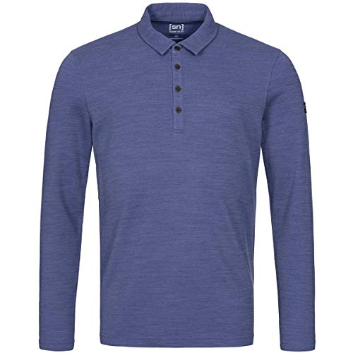 super.natural T-Shirt à Manches Longues pour Homme M Wayfarer Ls M Coastal Fjord.