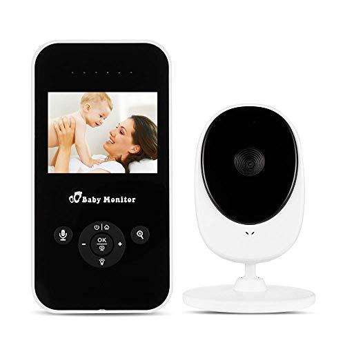 Babyfoon met camera, babymonitor draadloos 2.4 oplaadbare VOX-batterij met nachtzichtbewaking, temperatuursensor, slaapliedjes