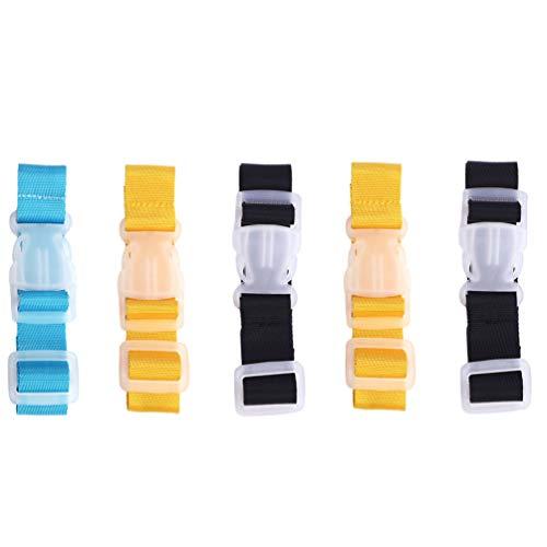 ifundom 5Pcs Bagagli Fibbia della Cinghia Valigia di Imballaggio Fibbia Cinture Accessori per La Casa di Viaggio di Viaggio Valigia Bagaglio Bagaglio