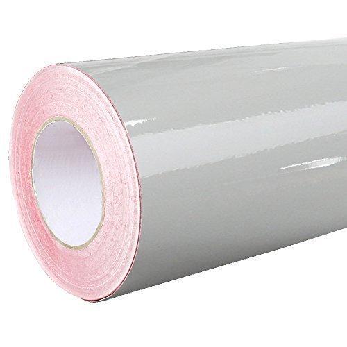 4,41€/m² Rapid Teck® Glanz Folie - 074 Mittel Grau - Klebefolie - 5m x 63cm - Plotterfolie - selbstklebende Folie - auch als Moebelfolie - Dekofolie