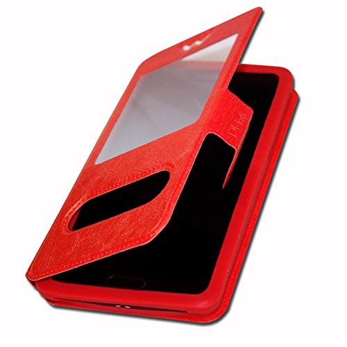 Danew Surnaturel R500 by Rohff Etui housse coque à fenêtres rouge de qualité by PH26®