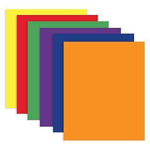 6 Pk, Bazic 2-pocket Portfolios, Assorted Colors
