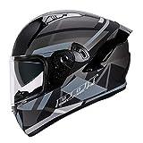 Casco da Moto Integrale Modulare Scooter Casco con Doppia Visiera Parasole,Sfiato Regolabile,Casco Integrali da Moto Four Seasons Universale per Uomini Donne Adulti,Omologato ECE A,3XL=64~65cm