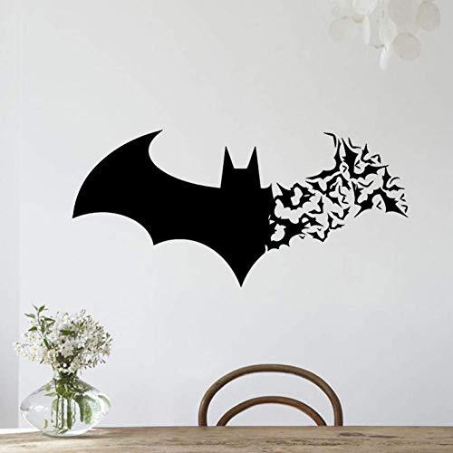 Halloween Batman muur hal glazen deur familie Wallpaper Sticker