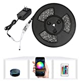 Nexlux LED Strip Lights, WiFi Wireless Smart Phone Controlled 32.8ft Waterproof...