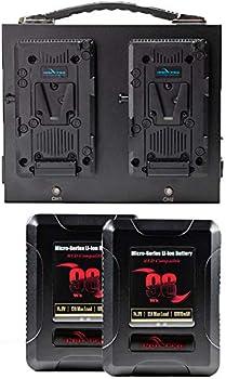 IndiPRO Tools 2 x Micro-Series 98Wh Li-Ion V-Mount Batteries