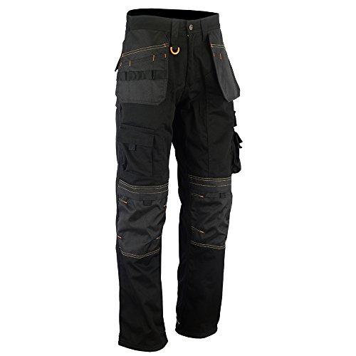 Wright Wears Herren Arbeit Cargo Hose Schwarz Multi Taschen & Kniepolstertaschen Wie Apache (DE: 44 / L (30W / 33L Größe Fertigung))
