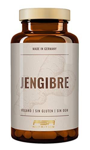 Jengibre 180 cápsulas, 500 mg por cápsula, vegano - Fabricado en Alemania - FSA Nutrition