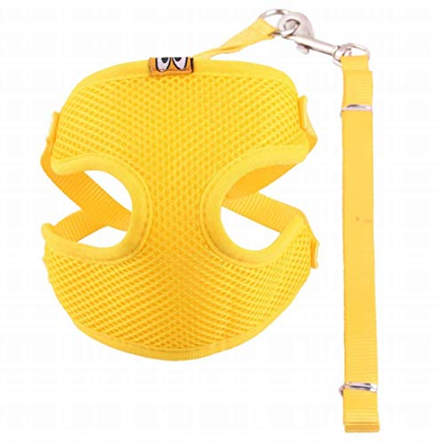 Dirgee Todos los climas No Tire Step-in Malla Perro Arnés Acolchado Chaleco (Color: Amarillo, Tamaño: M) (Color : Yellow, Size : Small)