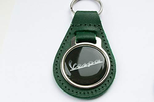 Unbekannt Schlüsselanhänger Vespa grün Leder Acryl