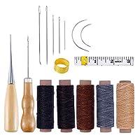 iplusmile レザークラフト レザーツールセット 皮革工具 革工具セット 手縫い 蝋引き系 DIY 革細工 初心者 手作り