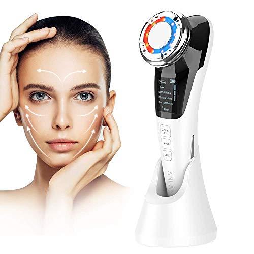 ANLAN Masajeador Facial Instrumento Multifuncional con Frío Calor Fototerapia Roja y Azul...