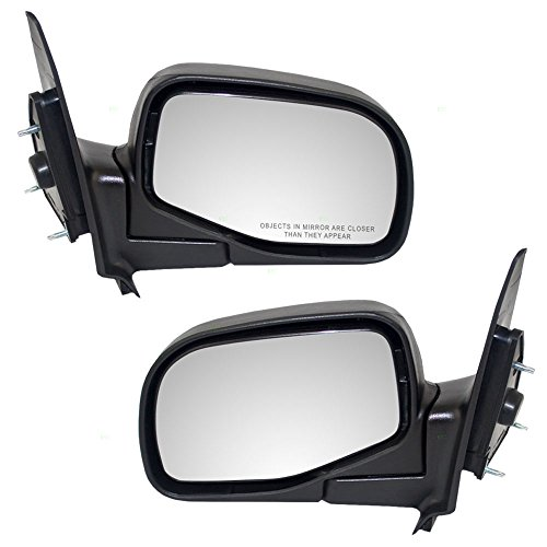 Driver and Passenger Manual Side View Mirrors Styled Type Replacement for Ford Mazda Pickup Truck 4L5Z17683BAA 1F70-69-120
