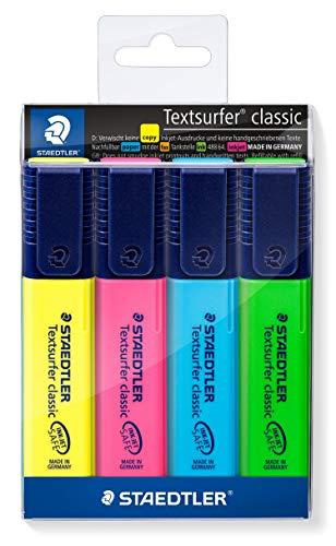 STAEDTLER 364 WP4 Textsurfer classic Textmarker 4 Stück im Weichplastiketui