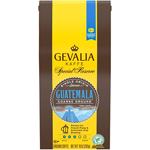 Gevalia Special Reserve Guatemala Coarse Medium Roast Ground Coffee (10 oz Bag)