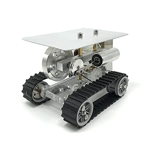 Xshion Motor Stirlingmotor de coche, tractor de aire caliente, motor de torsión, experimentos físicos, juguete educativo