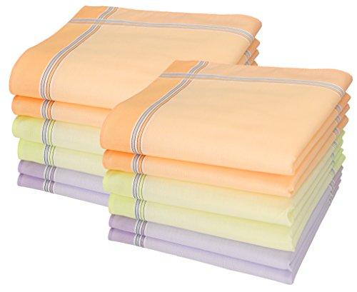 Betz Lot de 12 mouchoirs pour Femme Chanelle 1 30 x 30 cm 100% Coton Dessin 126