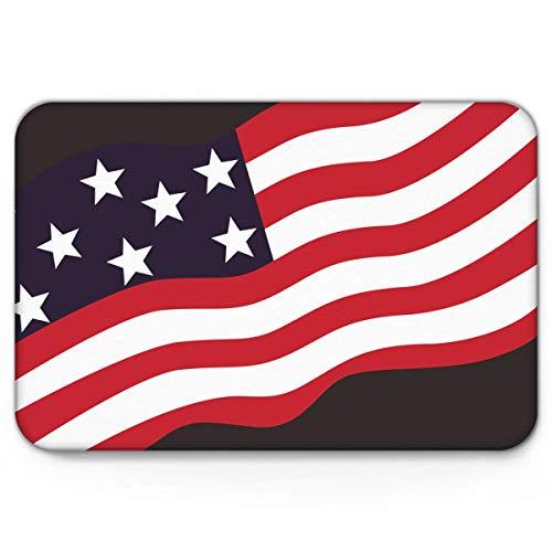 Amanda Walter Felpudos, Flying of American Independence Day, Divertido Interior Antideslizante de Bienvenida Esteras de Bienvenida Mut Dirt Zapatos Scraper Mat Alfombras Alfombra 40x60cm