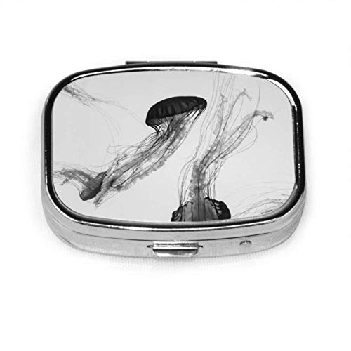 Pastillero Vista submarina Jellyfish Cute Pill Case Píldora diaria Portátil para bolsillo