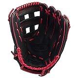 Wilson A360Gant de Baseball Gauche 30,5cm–Noir/Rouge
