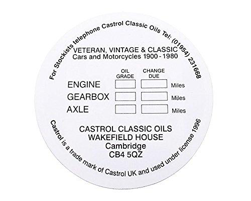 Original Castrol Classic Windschutzscheiben-Service-Aufkleber Ø 8,5cm